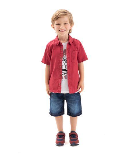 Camiseta-manga-corta-Ropa-bebe-nino-Gris