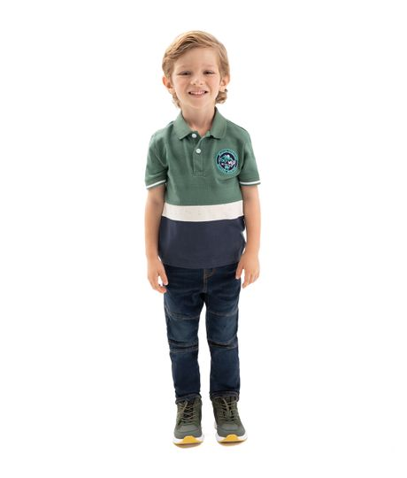 Camiseta-tipo-polo-Ropa-bebe-nino-Verde