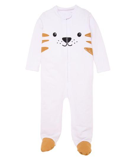 Pijama-enterizo-Ropa-recien-nacido-nino-Blanco