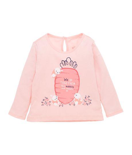 Camiseta-manga-larga-Ropa-recien-nacido-nina-Rosado