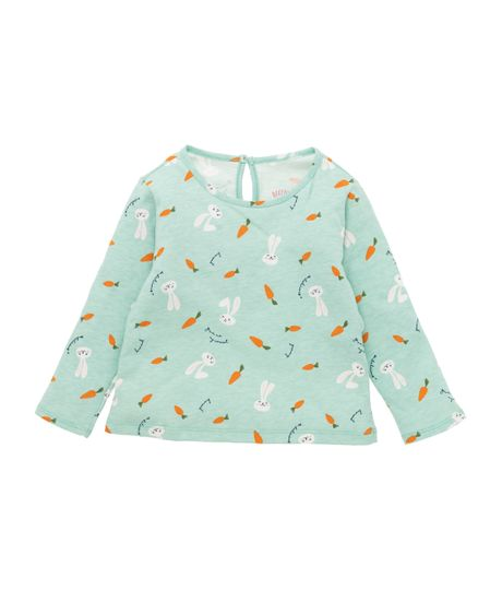 Camiseta-manga-larga-Ropa-recien-nacido-nina-Verde
