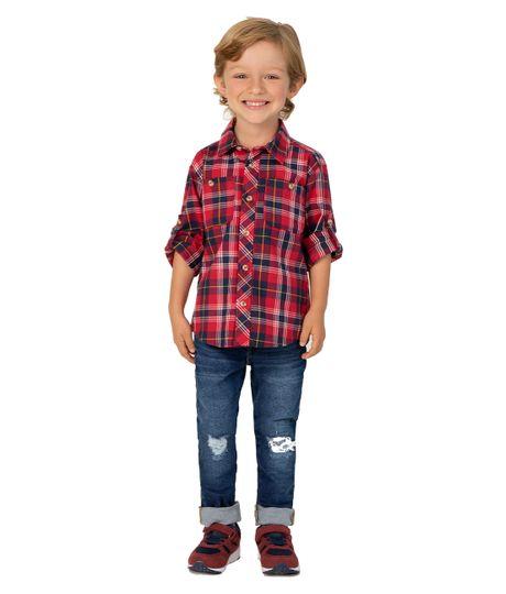 Camisa-manga-larga-Ropa-bebe-nino-Rojo