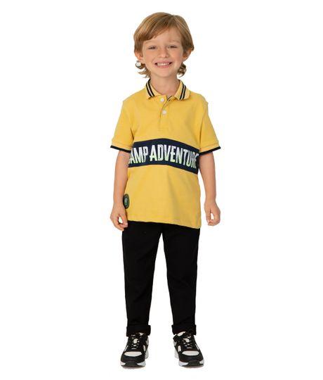 Camiseta-tipo-polo-Ropa-bebe-nino-Amarillo