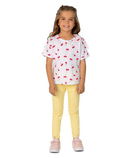 Camiseta-manga-corta-Ropa-bebe-nina-Blanco