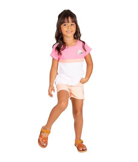 Camiseta-manga-corta-Ropa-bebe-nina-Rosado