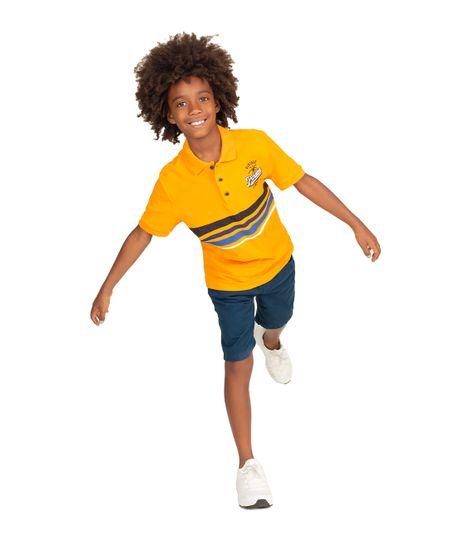 Camiseta-tipo-polo-Ropa-nino-Naranja