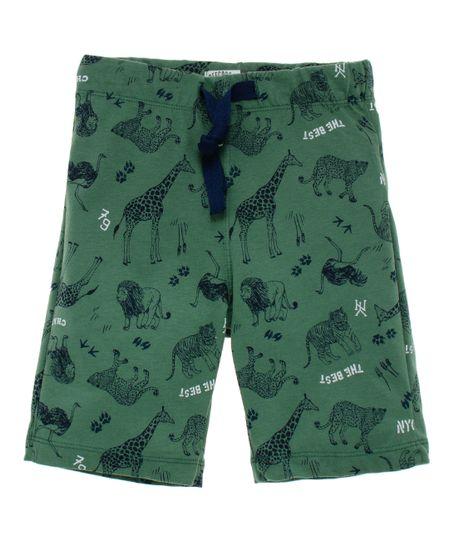 Bermuda-de-pijama-Ropa-bebe-nino-Verde