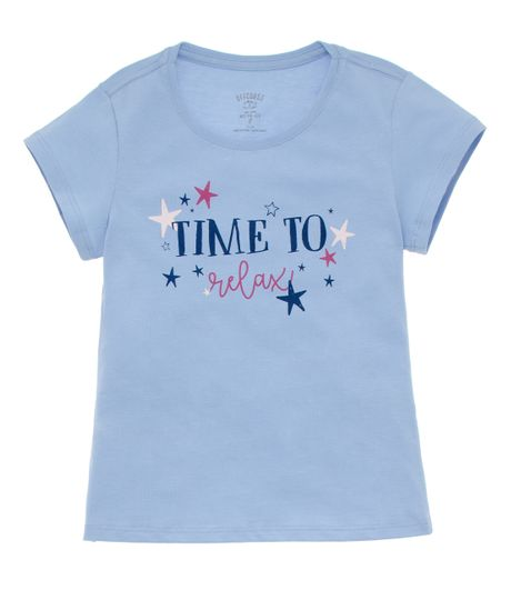 Camiseta-de-pijama-Ropa-nina-Azul