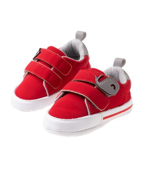 Zapatos-cosidos-Ropa-recien-nacido-nino-Rojo