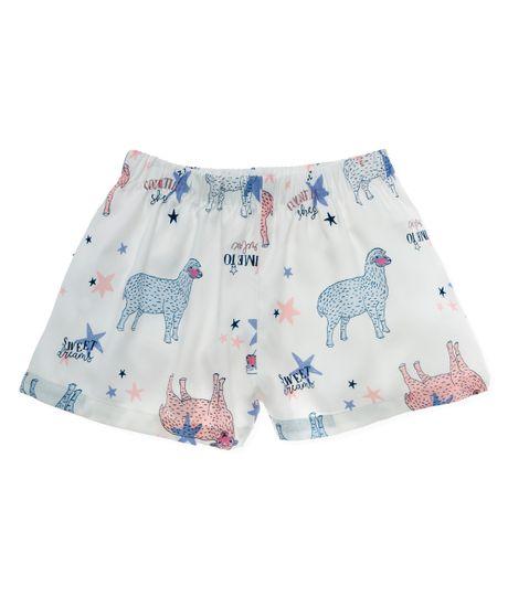 Short-de-pijama-Ropa-nina-Blanco