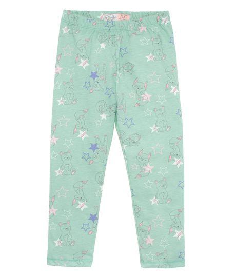 Pantalon-de-pijama-Ropa-bebe-nina-Verde