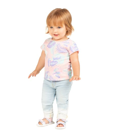 Camiseta-manga-corta-Ropa-recien-nacido-nina-Naranja