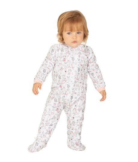 Pijama-enterizo-Ropa-recien-nacido-nina-Blanco