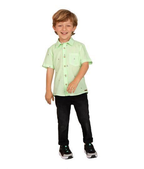 Camisa-manga-corta-Ropa-bebe-nino-Verde
