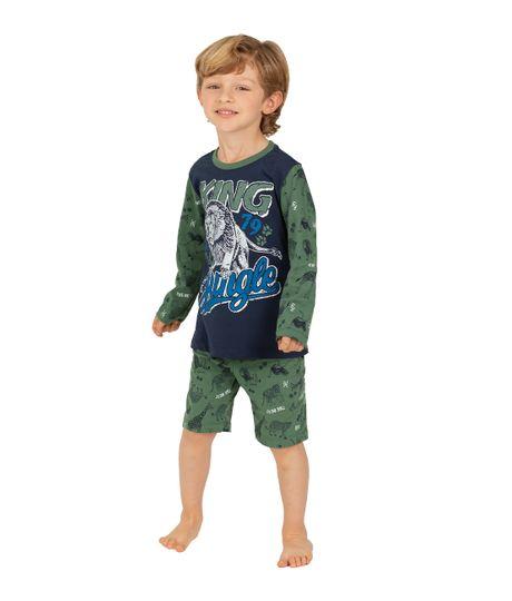 Camiseta-de-pijama-Ropa-bebe-nino-Azul