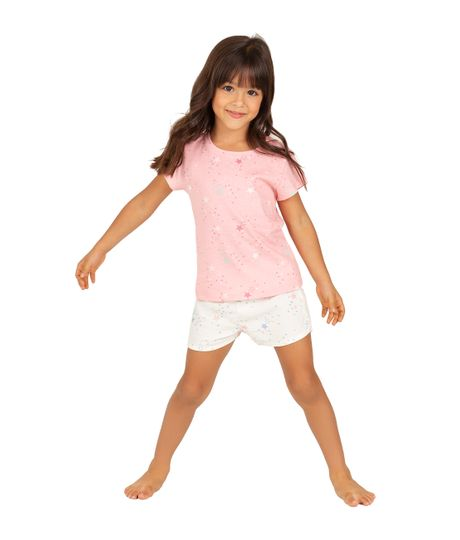 Short-de-pijama-Ropa-bebe-nina-Blanco