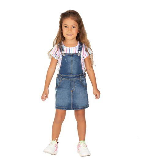 Overall-corto-Ropa-bebe-nina-Indigo-medio