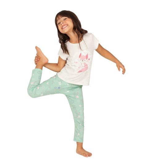 Camiseta-de-pijama-Ropa-bebe-nina-Gris