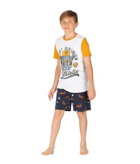 Bermuda-de-pijama-Ropa-nino-Azul