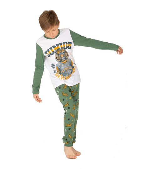 Sudadera-de-pijama-Ropa-nino-Verde