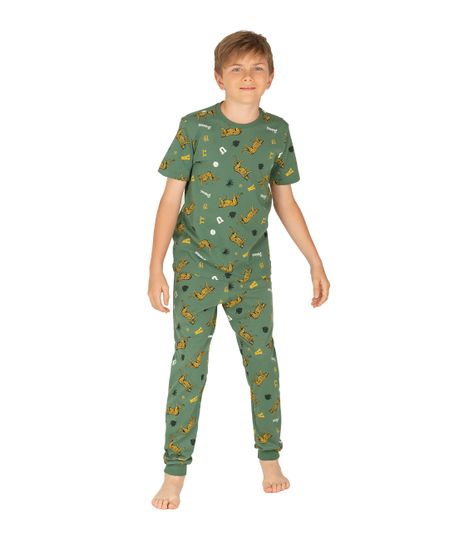 Camiseta-de-pijama-Ropa-nino-Verde