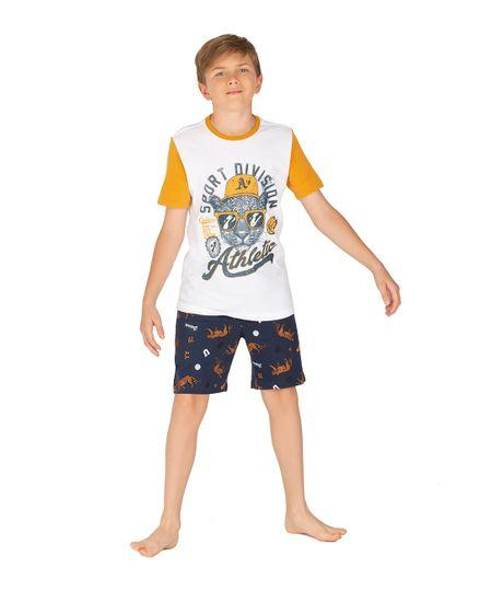 Camiseta-de-pijama-Ropa-nino-Blanco