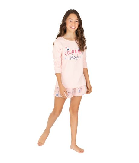 Short-de-pijama-Ropa-nina-Rosado