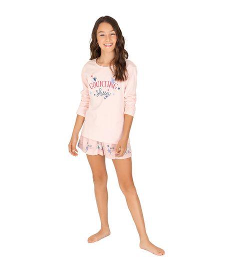 Camiseta-de-pijama-Ropa-nina-Rosado