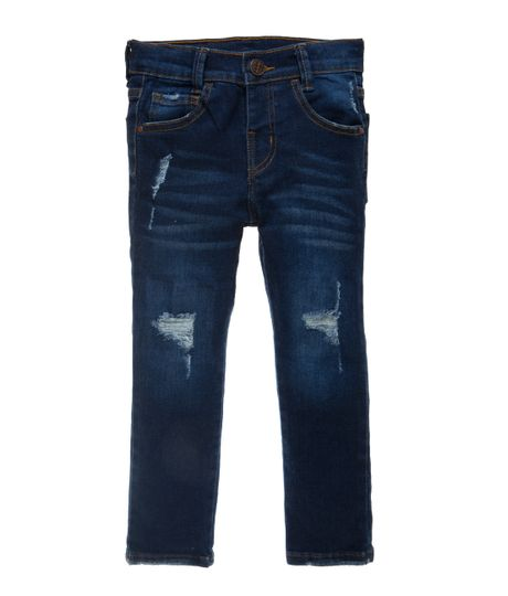 Jean-ultra-slim-Ropa-bebe-nino-Indigo-oscuro
