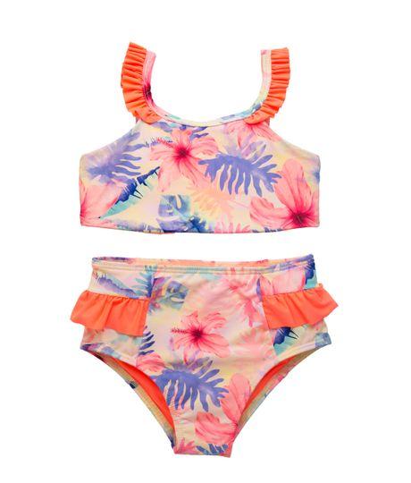 Vestido-de-baño-bikini-Ropa-nina-Amarillo