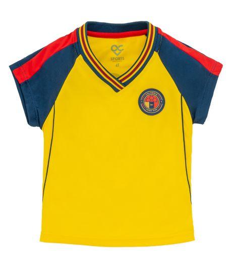 Camiseta-Colombia-Ropa-bebe-nina-Amarillo