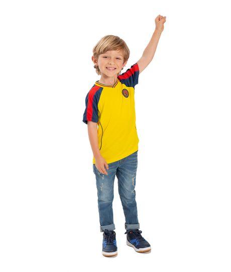 Camiseta-Colombia-Ropa-bebe-nino-Amarillo
