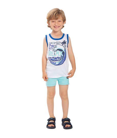 Camiseta-de-playa-Ropa-bebe-nino-Blanco