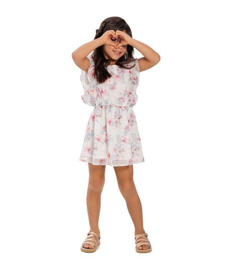Vestido-manga-corta-Ropa-bebe-nina-Blanco