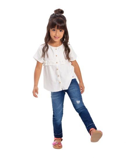 Camisa-manga-corta-Ropa-bebe-nina-Blanco