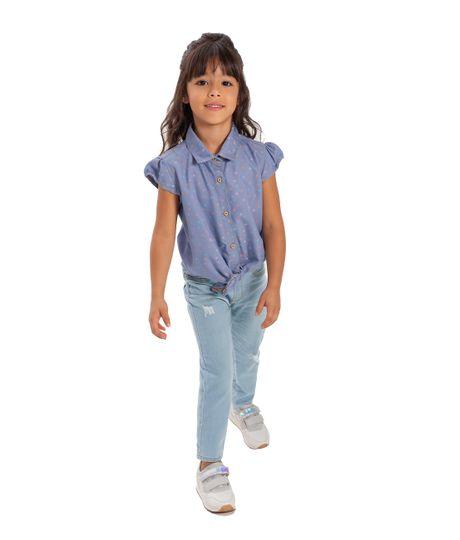 Camisa-manga-corta-Ropa-bebe-nina-Indigo-medio