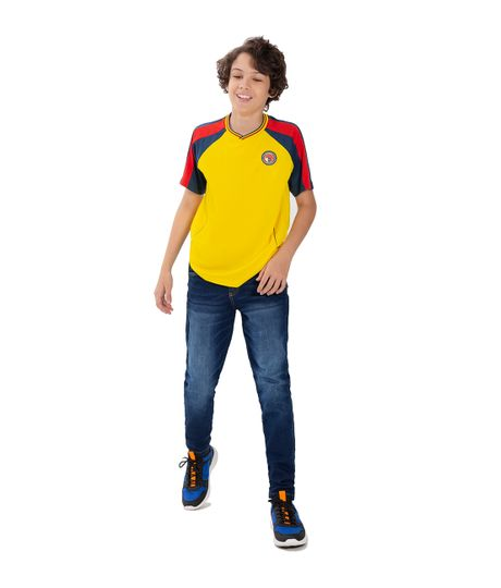 Camiseta-Colombia-Ropa-nino-Amarillo