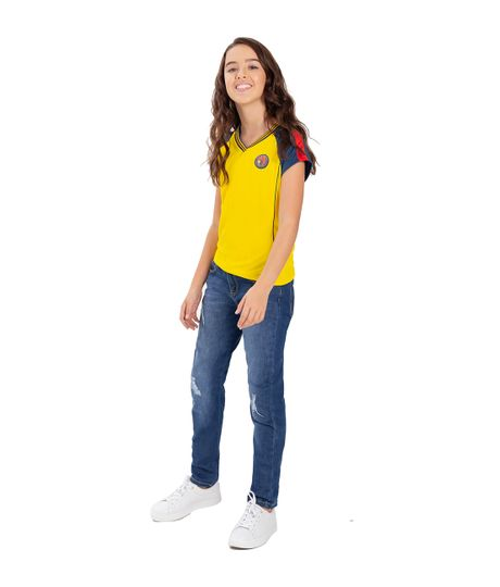 Camiseta-Colombia-Ropa-nina-Amarillo