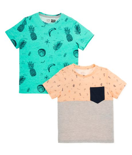 Set-camisetas-Ropa-nino-Verde