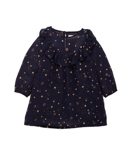 Vestido-manga-larga-Ropa-recien-nacido-nina-Azul