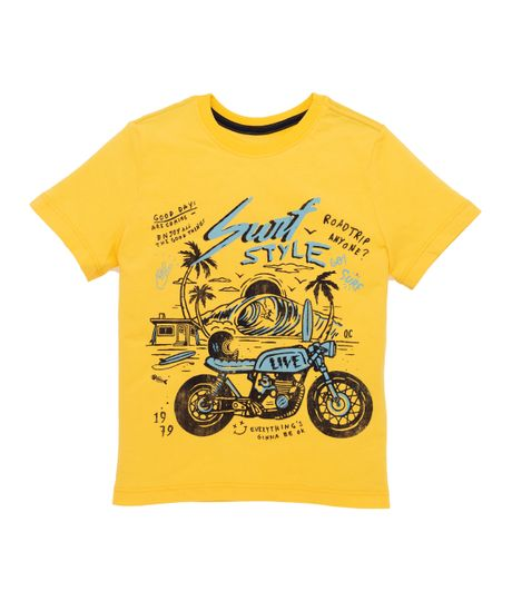 Camiseta-manga-corta-Venta-Directa-Amarillo