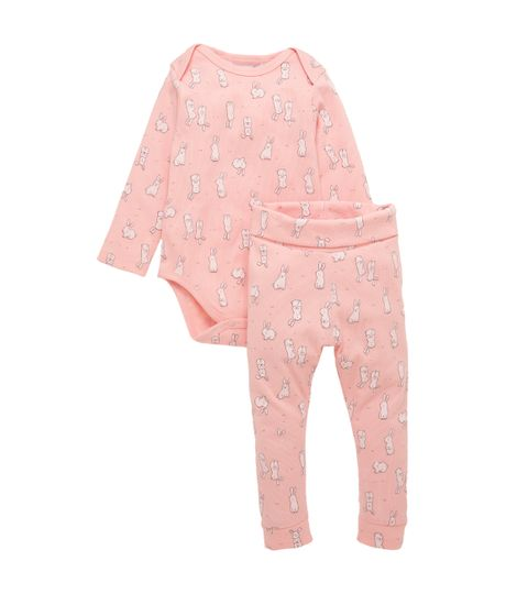 Pijama-manga-larga-Ropa-recien-nacido-nina-Rosado