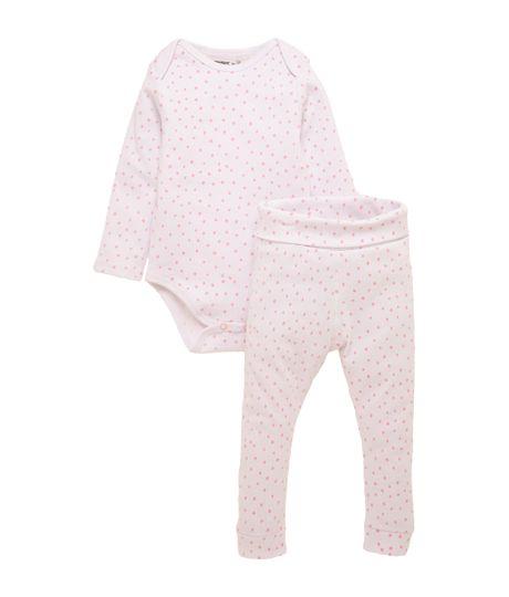 Pijama-manga-larga-Ropa-recien-nacido-nina-Blanco