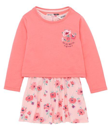 Vestido-manga-larga-Ropa-bebe-nina-Rosado