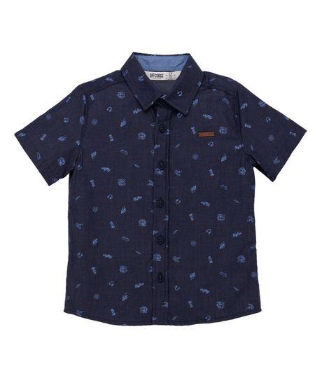 Camisa-manga-corta-Ropa-bebe-nino-Azul