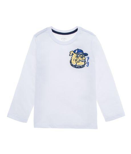 Camiseta-manga-larga-Ropa-bebe-nino-Blanco