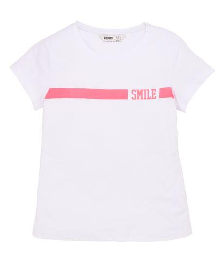 Camiseta-manga-corta-Ropa-nina-Blanco