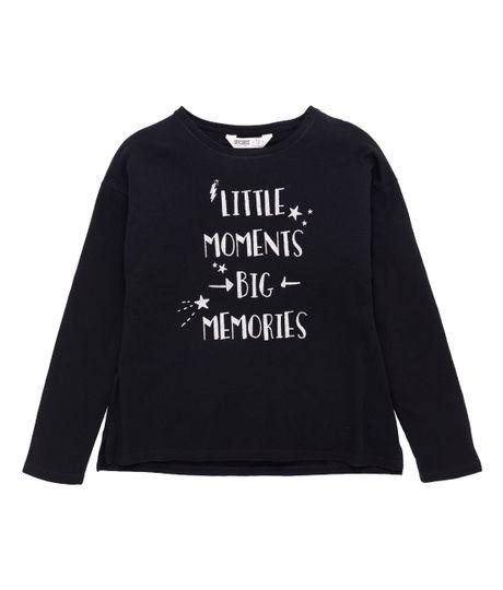 Camiseta-manga-larga-Ropa-nina-Negro