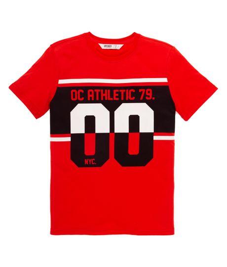 Camiseta-manga-corta-Ropa-nino-Rojo