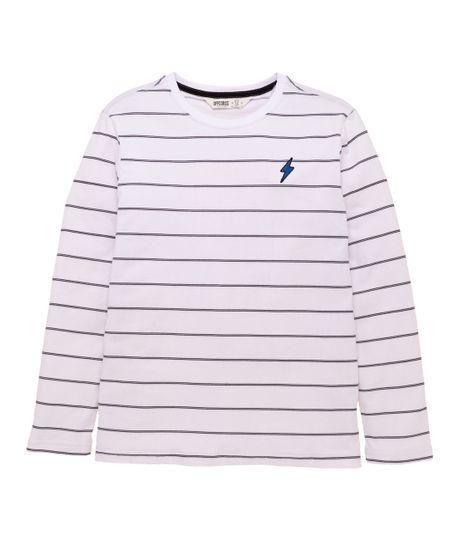 Camiseta-manga-larga-Ropa-nino-Blanco